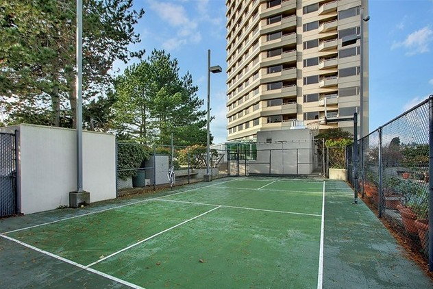 Sport Court, surrounded by outdoor running track - take a run wi